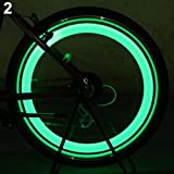 Geshiglobal - Luz LED para radios de bicicleta, rueda de coche, rueda de...