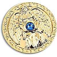 Engeltaler Schutz Schutzengel Talisman 24kt vergoldet mit Kristall, Ø 27mm, Glücksbringer Glücksmünze Engel preisvergleich bei billige-tabletten.eu