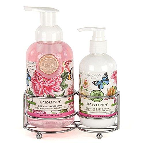 Schäumendes Hand Seife und Lotion Caddy Geschenk Set, Tuscan Grove Pfingstrose Pfingstrose ()