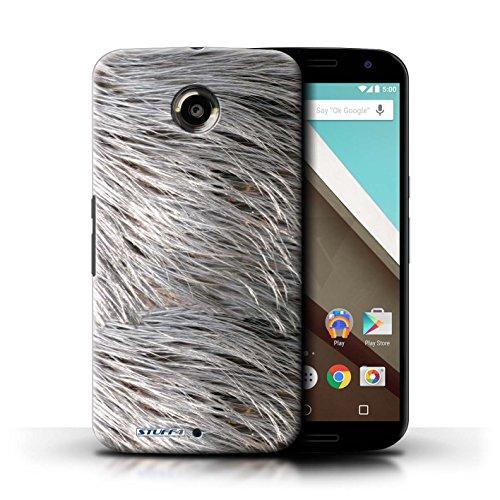 Kobalt® Imprimé Etui / Coque pour Motorola Nexus 6 / Tigre conception / Série Motif Fourrure Animale Plumes