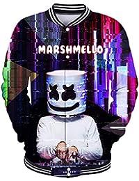 FLYCHEN Camiseta para Niños Impresión Gráfica 3D Marshmello DJ EDM Pop Music Style Fashion Moda Boy\'s T-Shirt Graphic