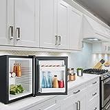 Klarstein MKS-11 Mini Kühlschrank Minibar Getränkekühlschrank (0 dB, 25 Liter Volumen, 1 Regal, 2 Seitenfächer, 47 cm hoch) mattschwarz - 3