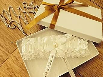 ... Hand Made Ivory White Bride Gift Boxed PG101GB: Amazon.co.uk: Clothing