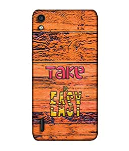 PrintVisa Designer Back Case Cover for Huawei Ascend P7 (Take It Easy Mica Ply Wooden)