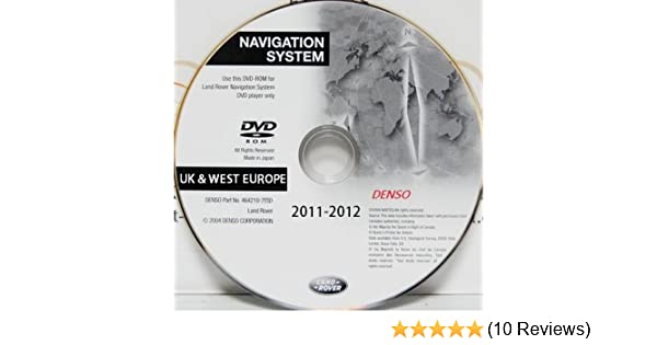 Land Rover / Range Rover / Sport / Discovery 3 / L322 UK & Western Europe  Satellite Navigation Denso DVD Map Disc 2011-2012