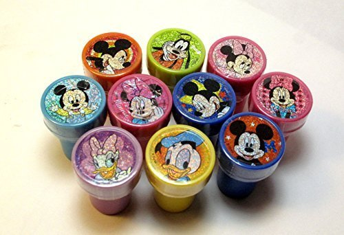 Disney Mickey and Minnie Clubhouse Self-inking 10pc Stamps Party Favors by Disney (Mickey Favors Party Clubhouse)