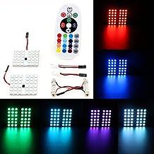 Xcellent Global Luces Bombilla 12V para Coche a Control Remoto Luces a Todo color para Interior de Coche LED AT018