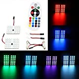 Xcellent Global Luci per interno auto con lampadine colorate LED da 12V con telecomando AT018