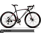 Pedaloop XC-550-Alloy Road Bike-Blackwhite