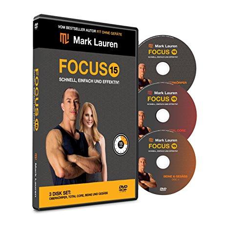 MARK LAUREN Körpergewicht Workout DVD Fokus 15 | Die ultimativen Übungsvideos für Beine, Gesäß, Gesamtkern und Oberkörper [Deutsch] - 90 Dvd-regal 5