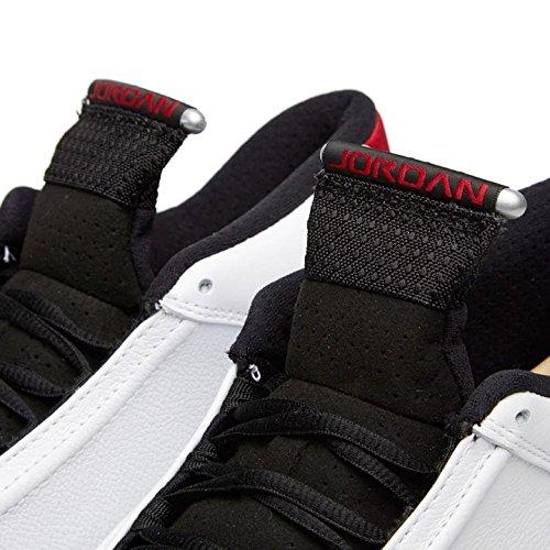 Nike Hommes Air Jordan 14 Retro Sport Chaussures Blanc / Noir / Rouge / Argent (blanc / Blck-vrsty Rd-mtllc Slvr)