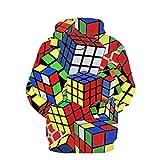 Spielraum! Herren Hoodies, Evansamp Kreative New Style 3D Gedruckt Pullover Mit Kapuze Lose Langarm Sweatershirt Tops (Rubik's Cube, S)