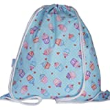Girls Cupcake Swim Bag Drawstring Backpack Gym Bag PE Bag