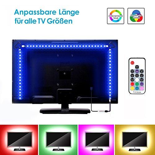 5V LED USB Backlight TV Hintergrund-Beleuchtung Streifen Selbstklebendes Draht