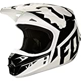 Fox Helmet V-1 Race, White/Black/Green, Größe S