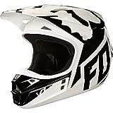 Fox Helmet V-1 Race, White/Black/Green, Größe M
