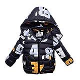 AMYMGLL Veste pour enfants hiver nouveaux vêtements pour enfants garçons et filles petites vestes pour enfants veste de manteau de marée , Orange , 100cm