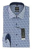OLYMP Herren Business Hemd Blau Print Body Fit New Kent Comfort Stretch Gr. 39