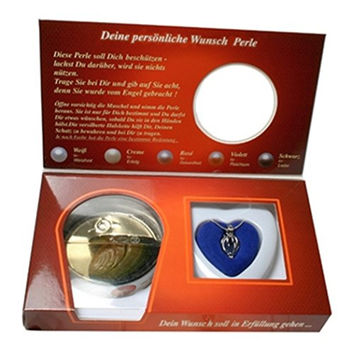 Schutzengel Wunschperle mit passender Halskette im Geschenkkarton Perle Schmuck
