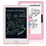 NEWYES 10 Pulgadas Tableta de Escritura LCD - Tablero de Dibujo Llave de Bloqueo Gráfico Electrónico para la Niños Oficina de la Escuela en el Hogar(Rosa)