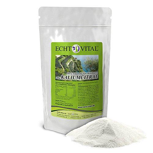 ECHT VITAL KALIUMCITRAT – 1 Beutel mit 200 g Pulver