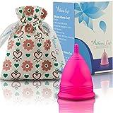 Athena Cup La Coupe Menstruelle La Plus Recommandée Comprend Un Sac Offert - Taille 2, Rose Mat