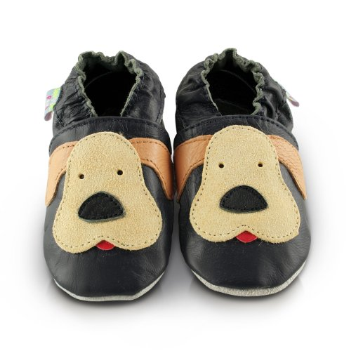 snuggle-feet-chaussons-bebe-en-cuir-doux-chiot-taquin-24-36-mois
