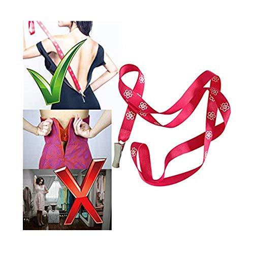 Balock Schuhe Zip up Kleider Stiefel - Zipper Puller - Zip up Kleid selbst - Zipper Helfer - Zipper Assistant - Rundum Reißverschluss Zieht Cable Puller Ends Lock Zip Clip Buckle (Rosa) -
