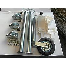 Stützen 700 mm /& Halter /& Schrauben Keile weiss Stützrad