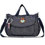 Kangming -  Borsa per cambio pannolini del bambino con fasciatoio, disegno a pois, borsa a tracolla o a mano di grande capacità, per la mamma