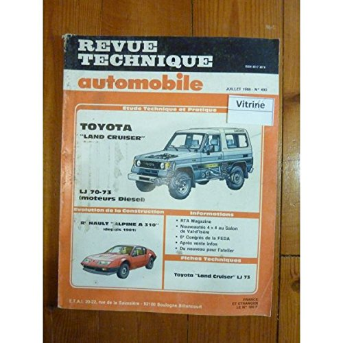 RTA0493 - REVUE TECHNIQUE AUTOMOBILE TOYOTA LAND CRUISER LJ70-LJ73 Diesel