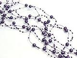 Perlengirlande 5St. x 1,3m, Farbe:violett 20