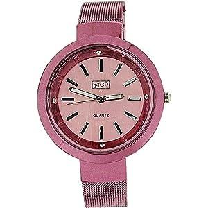 Eton 3081L Pink – Reloj para Mujeres, Correa de Metal Color Rosa