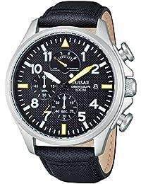 Pulsar Herren-Armbanduhr Chronograph Quarz Leder PS6053X1