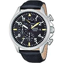 Pulsar Uhren PS6053X1 - Reloj cronógrafo de cuarzo para hombre con correa de piel, color negro