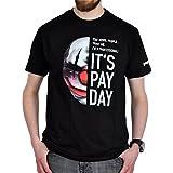 Elbenwald Payday 2 T-Shirt Chains Maske zum Spiel schwarz Baumwolle - XXL