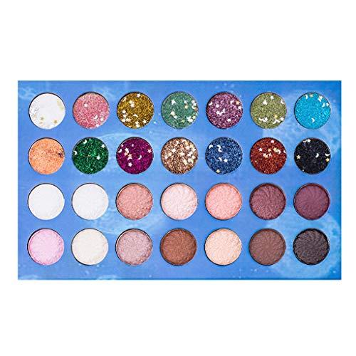 Beisoug 28 Colors Shimmer Matte Eyeshadow Palette Ombre à Paupières Cosmétique Maquillage Outil Pro