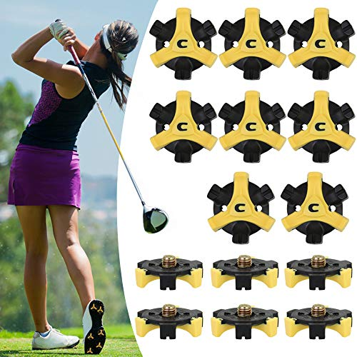 EMAGEREN 20 Stück Golf Schuh Spikes Universal Anti-Rutsch Golf Schuh Spikes Champ Stollen Pins Spikes Stinger Scorpion Fast Twist Tri Lok Golf Equipment Stinger Golf Spikes für Golf Sport Schuhe