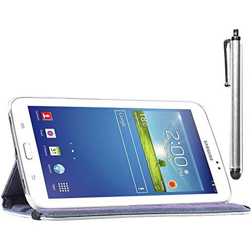 ebestStar - Compatibile Cover Samsung Galaxy Tab 3 8.0 SM-T310 Custodia Protezione Pelle PU con Supporto Rotazione 360 + Penna, Bianco [Apparecchio: 209.8 x 123.8 x 7.4mm, 8.0'']