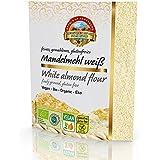 Biologisch wit amandelmeel geblancheerd 1,5 kg Fairtrade, natuurlijk, niet-geolied amandelpoeder, amandelproteïnepoeder, witt