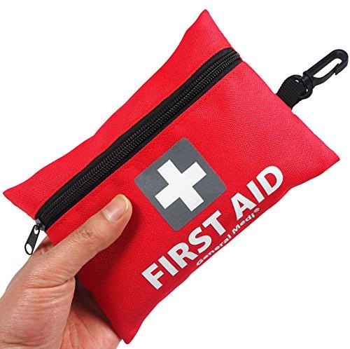 General Medi Premium Mini Kleine Erste Hilfe Set Tasche 92 Stück - Inklusive Notfalldecke, Schere für Reisen, Zuhause, Büro, Auto, Camping, Arbeitsplatz