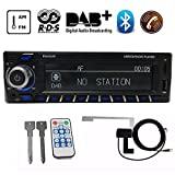 PolarLander Autoradio Bluetooth, Autoradio Bluetooth Freisprecheinrichtung, Digital Media-Receiver, Autoradio Audio DAB/RDS/AM/FM/USB/SD/AUX/ MP3-Player Receiver mit DAB Antenne