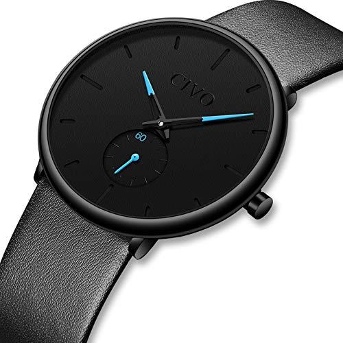 CIVO Relojes para Mujer Reloj Damas de Malla Impermeable Minimalista Elegante Banda de Acero Inoxidable Lujo Relojes de Pulsera Mujers Moda Vestir Casual Negocio Reloj de Cuarzo (2 Negro)