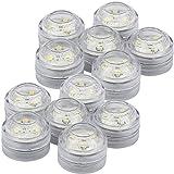 com-four® LED Teelicht Leuchte, einfarbiges Stimmungslicht, wasserdicht Ø 3,0 cm (12 Stück - Wasserdicht)