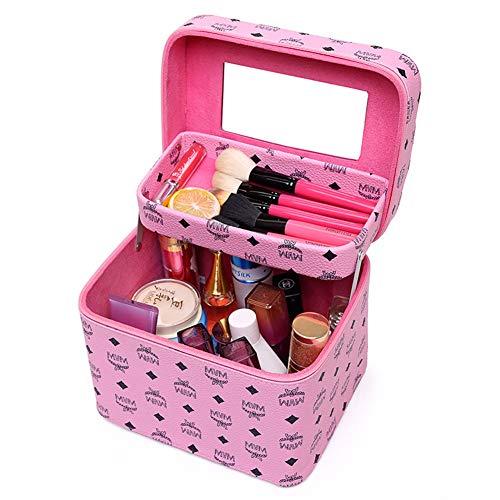 WANGXN Trousse à Maquillage de Voyage avec Compartiments avec Trousse à Maquillage en Miroir