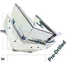 4x cromado muebles patas de muebles de metal pies para sofás, sillas, taburetes tsp2109