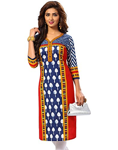 Jevi Prints Women's Cotton Dress Material (Saheli-1507_Free Size_Blue)