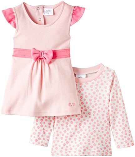 Twins Baby - Mädchen Kleid im Set mit Langarmshirt
