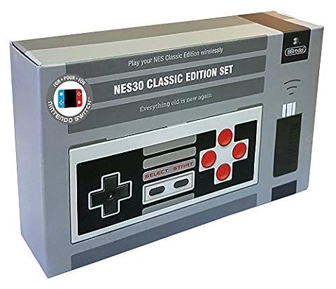 8Bitdo NES30 Classic Edition Set with Bluetooth Retro Receiver for NES Mini (Nintendo Wii U/Nintendo