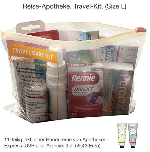 Reiseapotheke von Apotheken-Express (L-Size) 11-teilig inkl. einer Handcreme im Reiseformat...